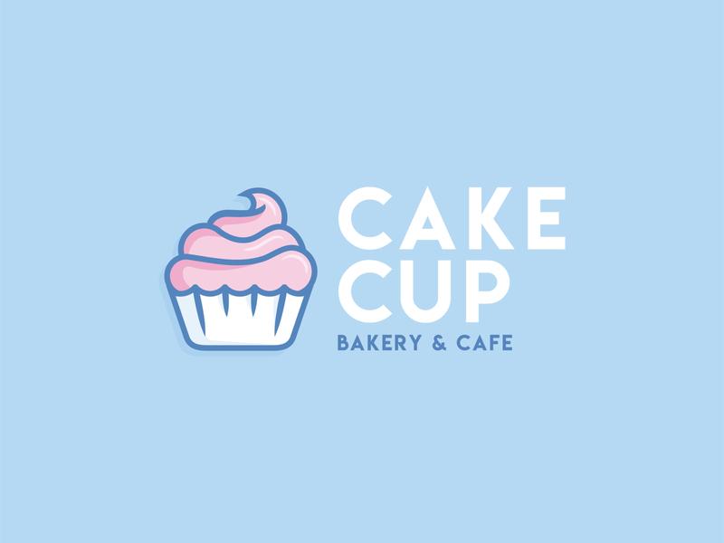 Cake Cup  Logo cupcake cupcake logo vector design logo dailylogochallenge