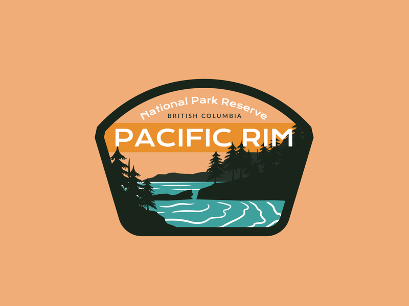 National Park Logo pacific rim national park illustration vector dailylogochallenge