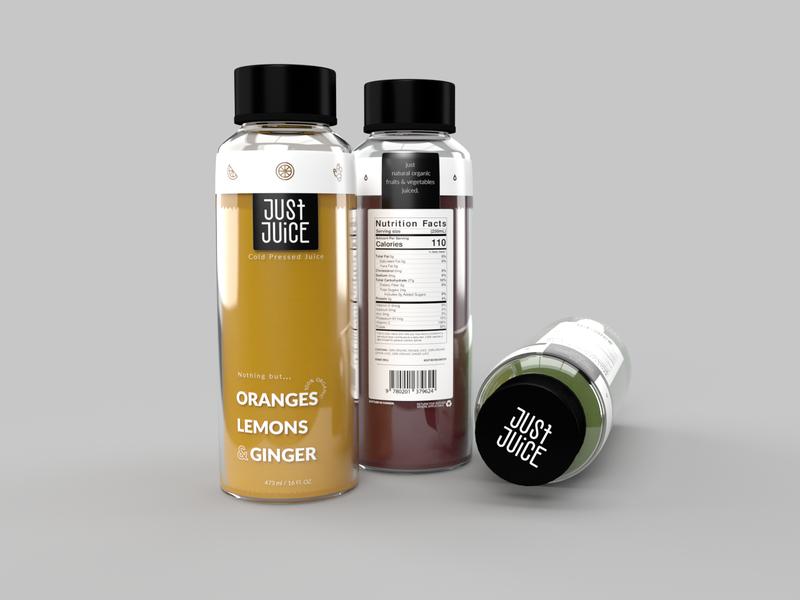 Just Juice bottle mockups bottle mockup juice bottle juice packaging illustrator dimension mockups mock up design logo