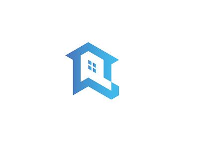 P Letter Home  logo app graphic design minimal symbol typography lettering 3d icons illustration icon design blue p letter logo modern simple brand logo design vector branding logo