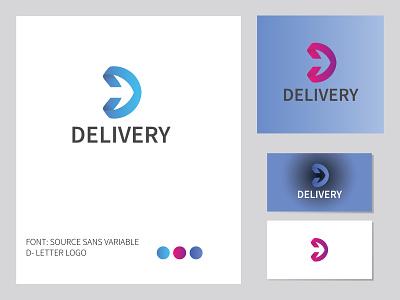D LETTER LOGO icons unique graphic design d letter logo clean art 3d minimal app icon typography illustration brand modern blue simple vector branding logo design logo