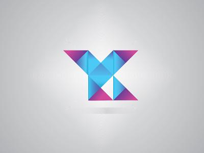 YK - letter logo symbol creative k letter logo y letter logo blue simple modern vector business brand logo design band identity branding logo