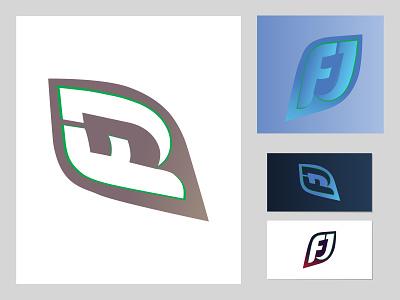 FJ LETTER LOGO natural organic modern f letter logo letter simple business vector brand abstract band identity logo design branding logo