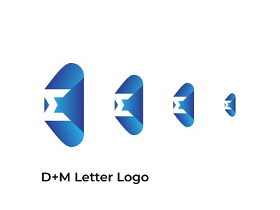 D+M letter logo logos m letter logo d letter logo design blue logo design simple modern brand abstract band identity branding logo
