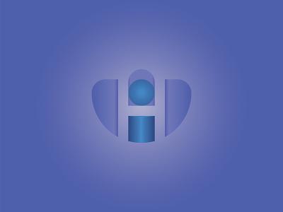 H+I LETTER LOGO blue lettering app illustrator minimal type 3d graphic design unique icons illustration icon typography simple design vector brand branding logo design logo