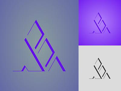 A+E LETTER LOGO app simple lettering minimal flat icons illustrator graphic design 3d unique brand typography icon design branding illustration vector logo design logo