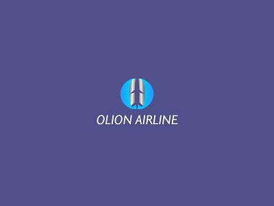 OLION AIRLINE web logo graphic creative clean brand identity app minimal abstract illustration icon blue modern design brand vector branding logo design logo airline app airline logo