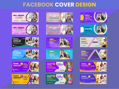 FACEBOOK COVER DESIGN youtube banner illustrator illustraion branding branding design instagram post modern banner back to school sale banner digital marketing agency facebook post web banner facebook banner banner ads social media social media design facebook ad facebook cover