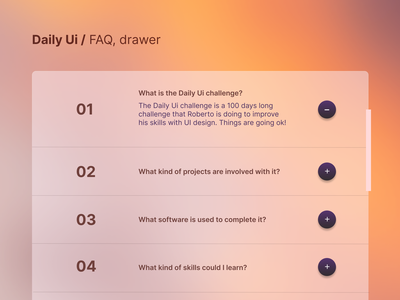 #92 Daily Ui / FAQ faq section drawers drawer faqs faq dailyui website design website daily ui web dailyuichallenge design ui ux