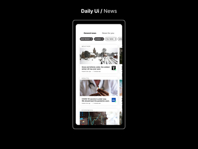 #94 Daily Ui / News news app ui newspaper news app newsfeed news outlet news daily ui dailyuichallenge dailyui app design ui ux