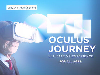 #98 Daily Ui / Advertisement oculus vr experience vr advertisement design advertise advertiser advertising adobe website design website daily ui 98 dailyui98 dailyui dailyuichallenge design ui ux