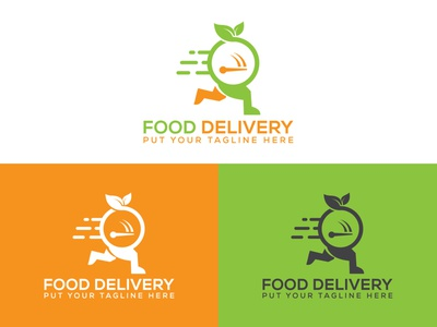 Food Delivery Logo minimalist illustrator logo design branding food logo graphic design food delivery flat food design logo