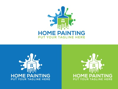 Home Painting Logo design home logo home painting painting logo minimalist logo design graphic design flat branding