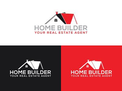 Real Estate Logo flat logo home logo real estate logo design minimalist graphic design branding logo design