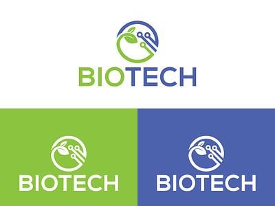 Biotech Logo Design technology natural logo tech logo design flat branding logo design minimalist logo