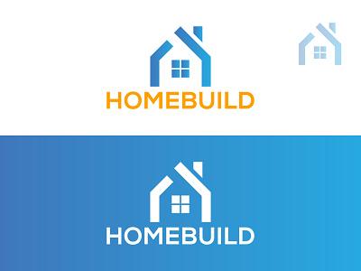HOMEBUILD LOGO design flat illustration home logo real estate logo iconic logo app logo 3d lgo mordern logo minimalist logo design logo branding