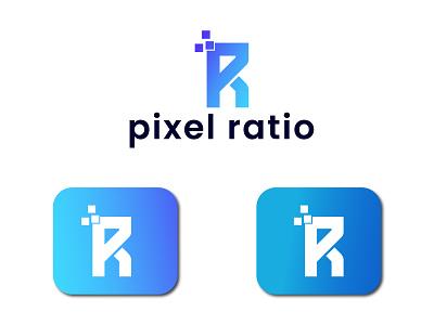Pixel Ratio Logo/ App Logo flat illustration graphic design minimalist branding logo design typogaphy iconic logo minimalist logo logo 3d logo flat logo modern logo app logo pixel logo