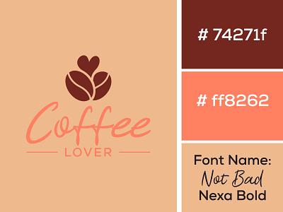 Coffee  Lover logo/ Restaurant Logo/ Coffee Shop logo logo 3d logo iconic logo modern logo restaurant graphic design app logo flat minimalist branding logo design