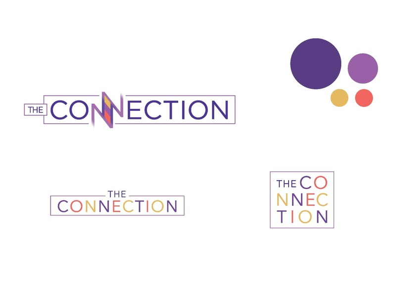TheConnection_TechBar Branding + Environmental Graphics logo mark branding branding concept signage environmental graphics