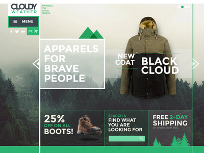 Cloudyweather ui ux branding web design