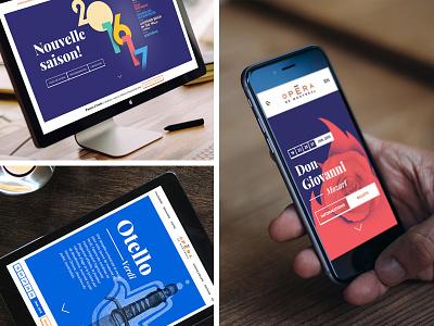 Opéra de Montréal blue ipad frame wood responsive culture art music mobile opera