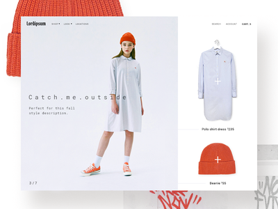 Fashion - Shop the look lookbook product page photography grid banner beanie shoes pdp website ecommerce fashion streetwear