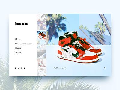 Sneakers Lookbook lookbook layout photography nike sneakers shoes website ecommerce fashion streetwear