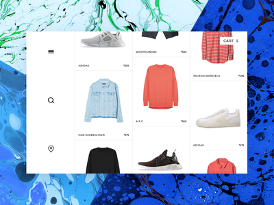 ecommerce streetwear product grid