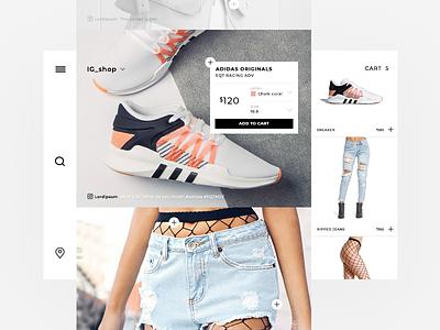 shoppable instagram scroll insta shop grey interface streetwear fashion sneakers instashop instagram shoppable shop