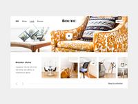 Furniture store online inspiration / lookbook layout