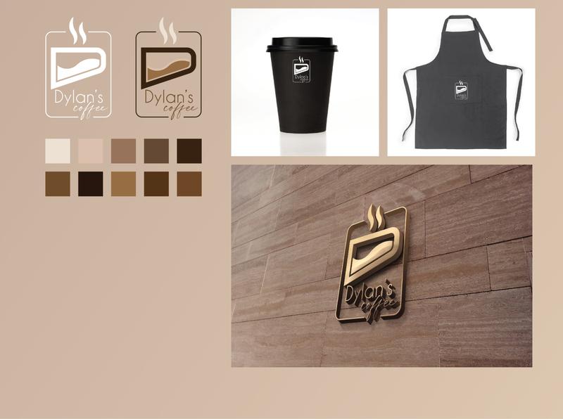 Dylan's Coffee vector logo illustration design