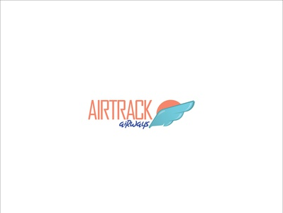 Airtrack vector logo illustration design