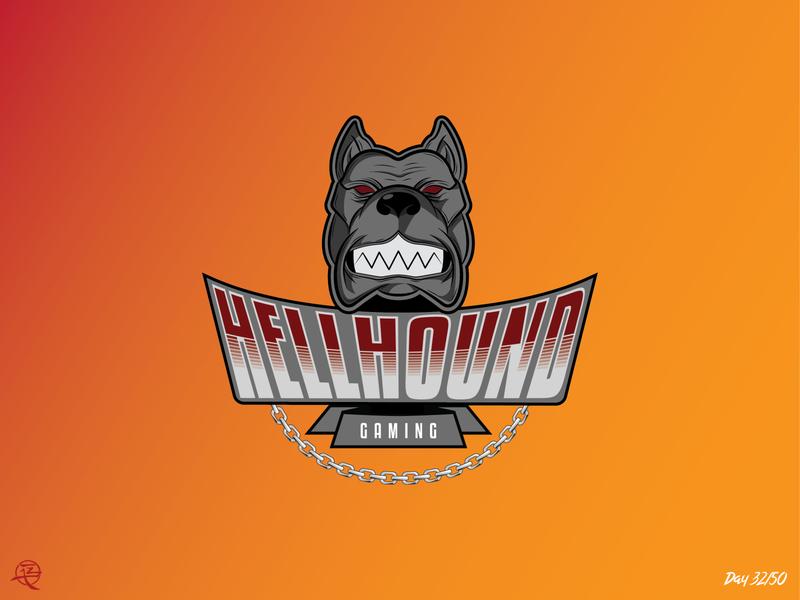 Hellhound challenge dailylogochallenge branding australia illustrator art vector logo illustration design