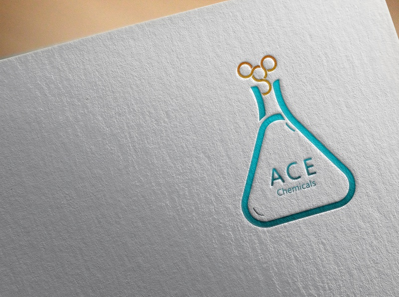 ACE Chemicals graphic design gadientlogo adobe photoshop illustrator logodesign graphicdesign