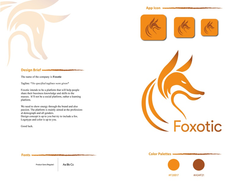 Foxotic branding fox logo bussiness logo gadientlogo illustrator minimal brand design logodesign graphicdesign