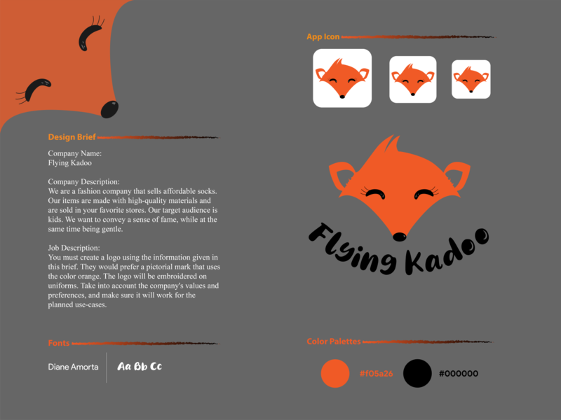 Flying Kadoo illustrator apparel brand design minimal logodesign graphicdesign