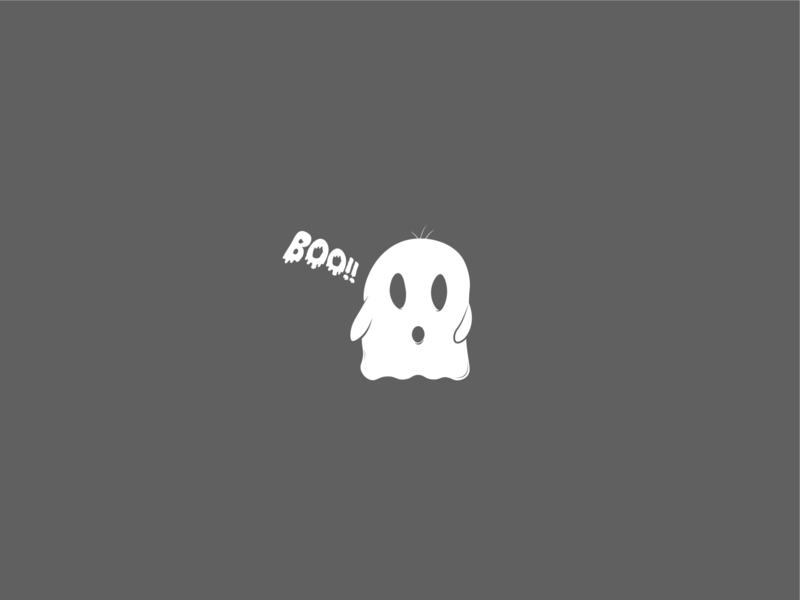 A friendly neighbourhood ghost illustration minimal graphicdesign