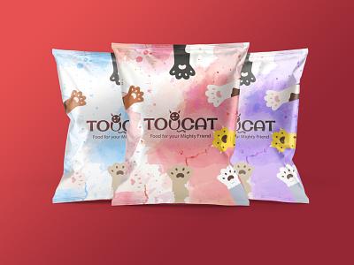 Toucat dry cat food productdesign drycatfood packaging cat catfood illustration brand identity branding illustrator