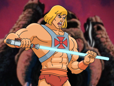 Master of the Universe Far Far Away master of the universe special effects vector graphic design adobe illustrator adobe photoshop cruxworldwide art lightsaber starwars he-man