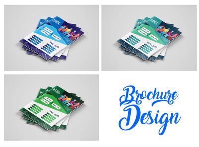 Brochure Design illustrator animation web app flat vector minimal logo design branding