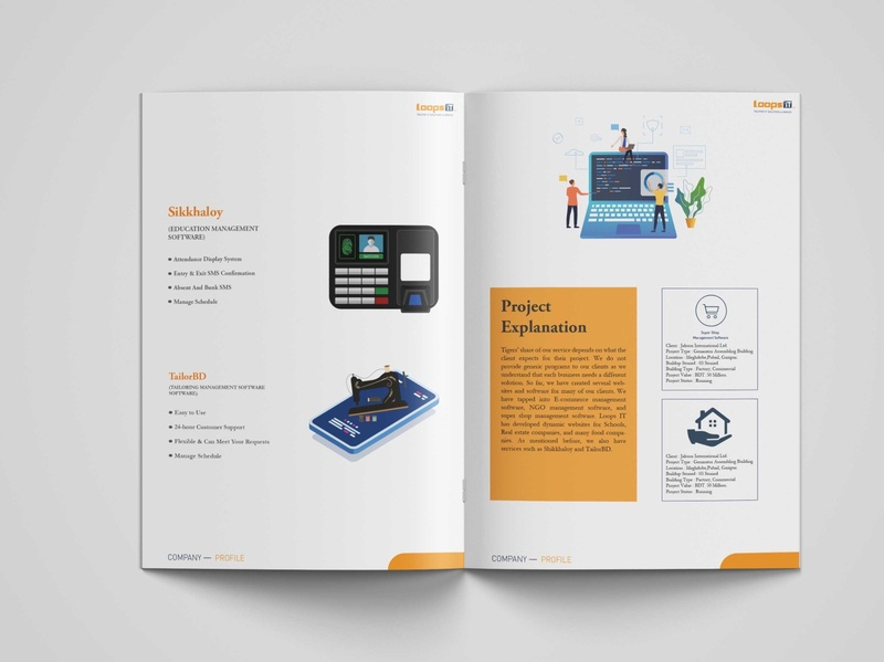 Company Profile Design 5 brochure design flyer concept logo flat typography art illustration vector minimal design branding company profile