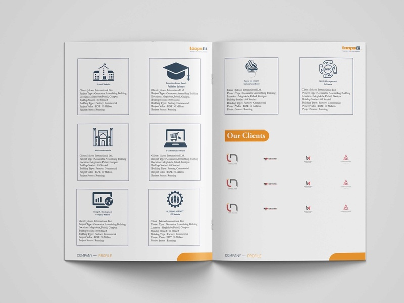 Company Profile Design 6 vector ui flat typography art illustration graphic design clean creative brochure design company profile branding