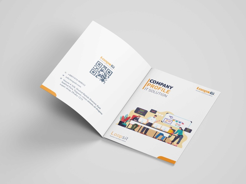 Company Profile Design 8 brochure design illustrator company profile typography art illustration vector minimal design branding