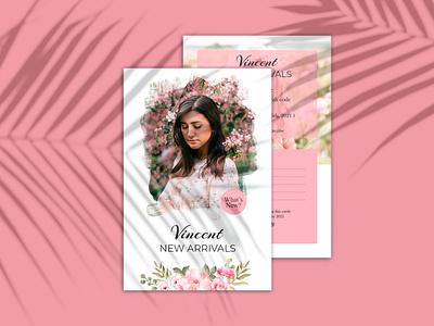 Fashion - Postcard Template minimal ui ux logo art illustrator postcard design template creative postcards banner postcard project fashion postcard postcard design postcard