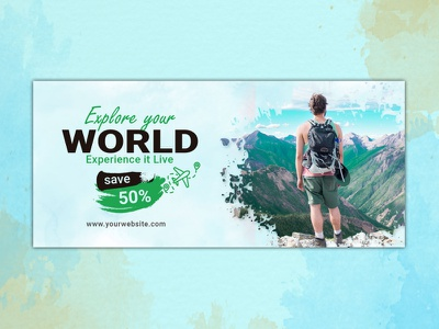 Design an eye catching Facebook Ad for Travel Deals   Specials minimal illustrator banner design banner ads art vector design art facebook banner fb banner free banner google fb illustration