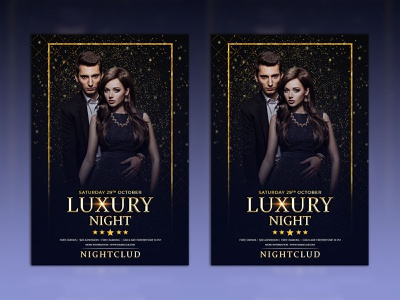 luxury night Club Party Poster. logo art banner illustration vector minimal luxury logo summer stylish spring speakers shiny sexy party psd anniversary luxury design luxury night luxury