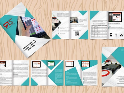 10 Page Bifold Brochure animation things ux vector branding typography minimal illustration