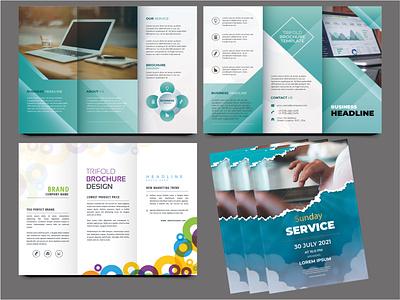 Trifold brochure and flyer Design typography minimal branding vector design flyer design trifold brochure illustration