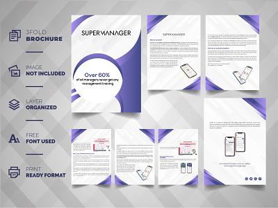 Brochure Profile Template minimal vector branding ux ui logo things design illustration typography minimalist brochure graphic design