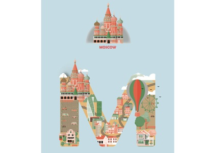 Moscow cityscape cityscape moscow design illustrations illustrator